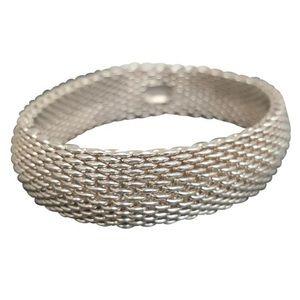 Tiffany & Co. Somerset Mesh Weave Bangle Bracelet